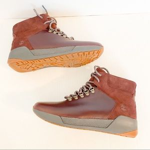 Timberland maroon boots size 8